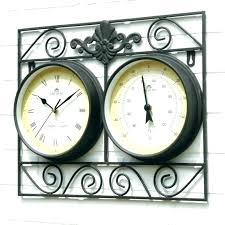 outside clock and thermometer large outdoor wall clock outside wall clocks large garden clock outdoor wall outside clock and thermometer outdoor garden