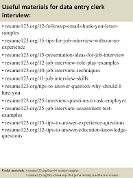 14 useful materials for data entry resume for data entry