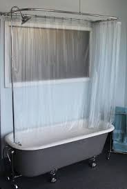 claw foot tub wall mounted shower