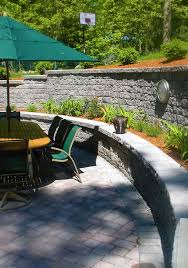 Backyard Retaining Wall Designs Beauteous Retaining Walls Hardscapes Boston MA Courtyard Concepts