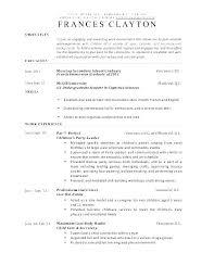 Child Care Resume Objective Daycare Worker Resume Child Care Resume