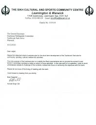 Samples Of Business Plan Letters Huanyii Com