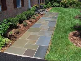 flagstone patio with grass. Flagstone Walkway Patio With Grass S