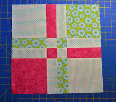 Chock-A-Block Quilt Blocks: Disappearing 4-Patch & Sew rows together and press seams Adamdwight.com