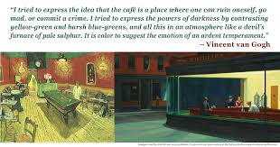 edward hopper nighthawks and vincent van gogh night