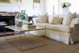 seagrass rugs white sofa living room modern coffee table