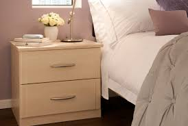 Light Maple Bedroom Furniture Bedside Table With A Maple Finish From The Milan Bedroom Furniture
