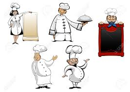 Les Chefs Et Les Cuisiniers Cartoon Caract Res Fix S Avec Le Menu