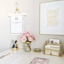 work desk ideas white office. gold pastel pink and white desk work ideas office