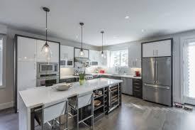 Two Tone White Grey Contemporary Kitchen Design Kitchen Land