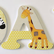 lemon jungle animals patterned wall letters