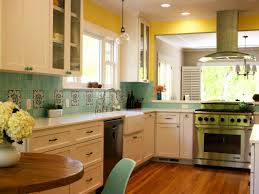 Yellow Wall Kitchen Blue Kitchen Cabinets With Yellow Walls Quicuacom
