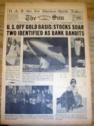 1933 Washington DC newspaper US goes ...