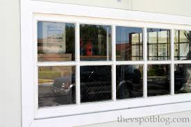 frosted glass window adds privacy to garage windows