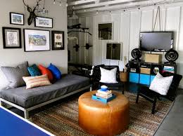 Garage Redesigned to Teen Hangout Space