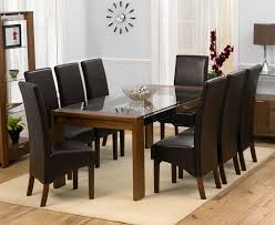 dining tables with 8 chairs on dining room regarding round glass tables for 8 black 11