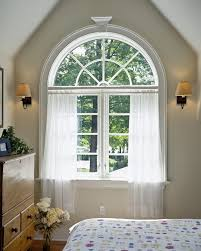 arched window curtains