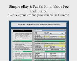 Invoice Price Calculator Simple Ebay Paypal Final Fee Calculator Free Invoice