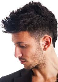 short spiky hairstyle for men with thick hair
