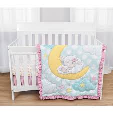 baby s first by nemcor 3 piece crib bedding set sleepy little lamb com