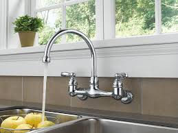amazing wall mounted kitchen faucets in portman mount faucet cross handles