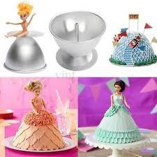 3d Princess Dress Doll Cake Fondant Baking Pan Decorate Making Mould