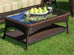patio coffee table for the backyard  home furniture and decor