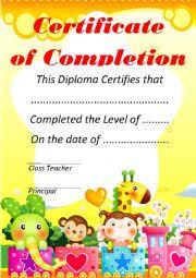 English Certificate For Kids Esl Worksheet By Elif_kara1905