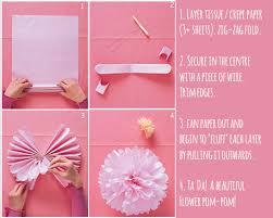 Tissue Paper Flower Instructions Diy Paper Flowers Clever Bird Banter