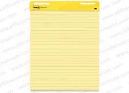 Lined Flip Chart Pads 3m Post It Self Stick Easel Pad 561 25 X 30 Inches Line Ruled 30