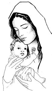 Bel Disegno Da Colorare Madonna Col Bambino Disegni Da Colorare E