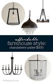 inexpensive farmhouse lighting