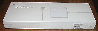 apple 45w magsafe 2 power adapter. genuine apple 45w magsafe 2 power adapter md592ll/a a1436 new sealed retail box