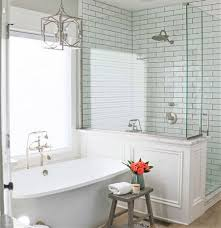 classic subway tile shower