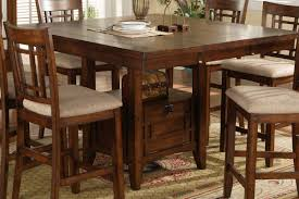 Counter Height Table with Strapback Stools Magnifier