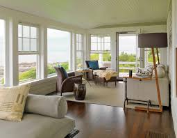 modern sunroom designs. Cozy Modern Sunroom Design With Pictures And Sun Porch Furniture Also Tan Rug Plus Wood Flooring Perfected By Floor Lamps Glass Door Designs