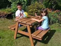 best kids wooden picnic table ideas