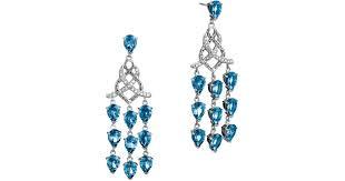lyst john hardy batu classic chain silver chandelier earrings with london blue topaz in blue