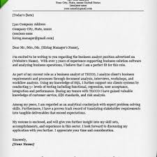 Capricious Amazing Cover Letter 10 For Business Analyst Format