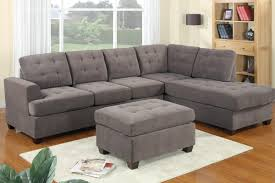 Ottoman In Living Room Amazoncom 3pc Modern Reversible Grey Charcoal Sectional Sofa