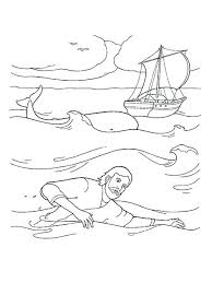 Jonah Bible Story Coloring Pages And The Whale Page For Bestlink