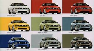 2005 Mustang Color Chart Details About 2005 Ford Mustang Brochure Catalog With Color Chart Gt Convertible V6 Nos
