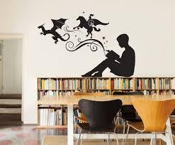 book wall decal vinyl art stickers