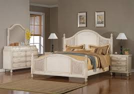 Relaxing Rustic White Bedroom Furniture