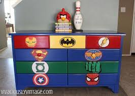 kid s superhero diy dresser makeover bedroom ideas painted furniture furniture for boys room