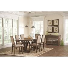 coaster bridgeport 8 piece rustic dining room group coaster fine furniture