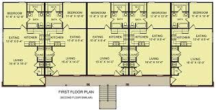 10 unit apartment building plan 83128dc architectural designs