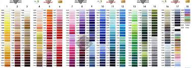 Brother Embroidery Thread Online Charts Collection
