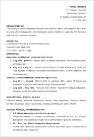 Objective Resume Examples For High School Student Kantosanpo Com