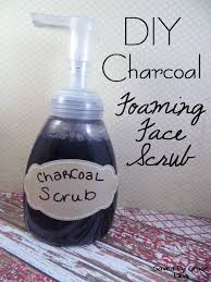 diy foaming charcoal face scrub make your own charcoal scrub to fight blackheads charcoal